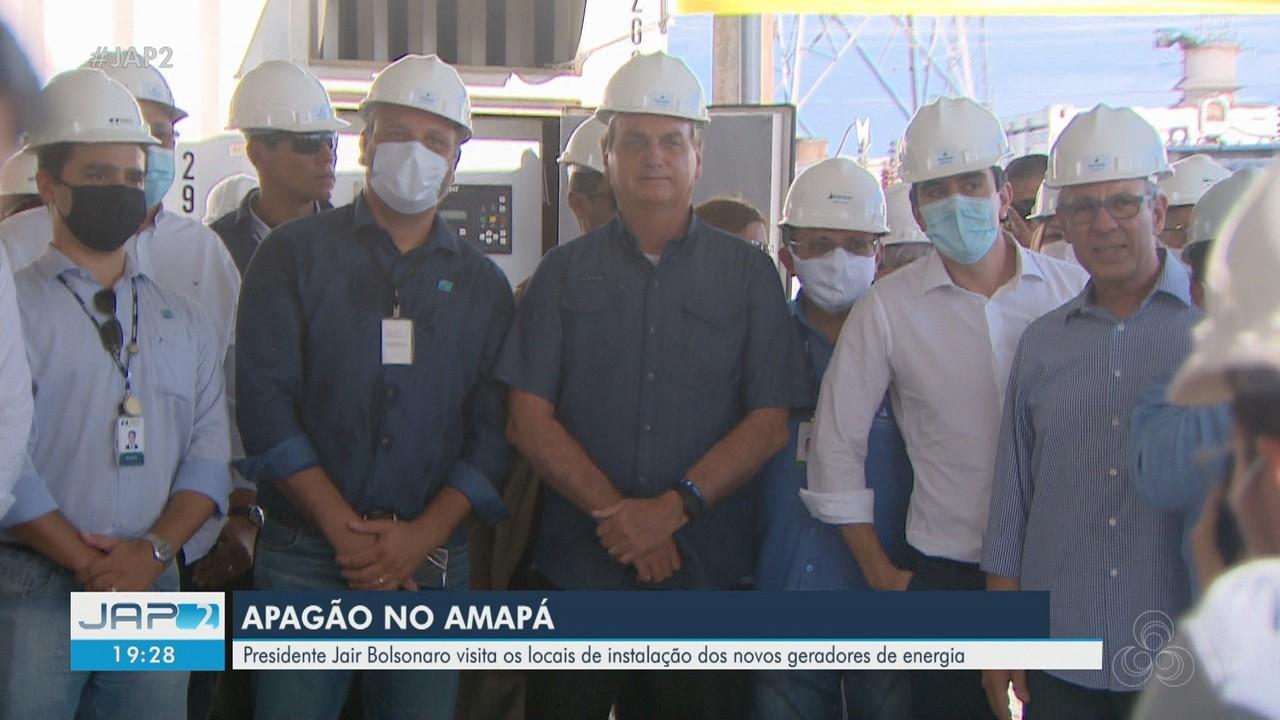 Bolsonaro chega no 19º dia de apagão para visitar locais com geradores de energia