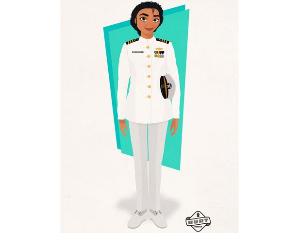 Moana, adivinha? É oficial condecorada do alto comando da Marinha. (Foto: Reprodução / Matt Burt)