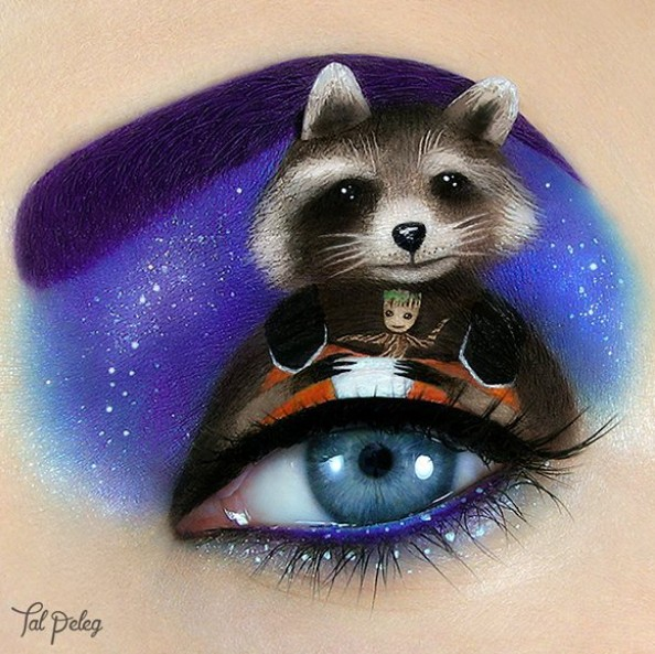 Maquiagem de Guardiões da Galáxia feita por Tal Peleg (Foto: @tal_peleg/Instagram)