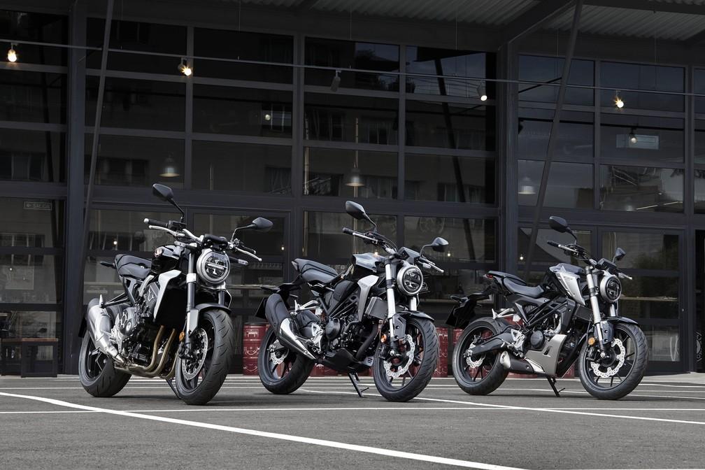 Honda CB 1000R, CB 300R e CB 125R (Foto: Honda/Divulgação)