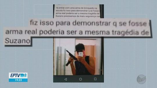 Adolescente de 16 anos é detido com arma de brinquedo 'para testar segurança' em MG