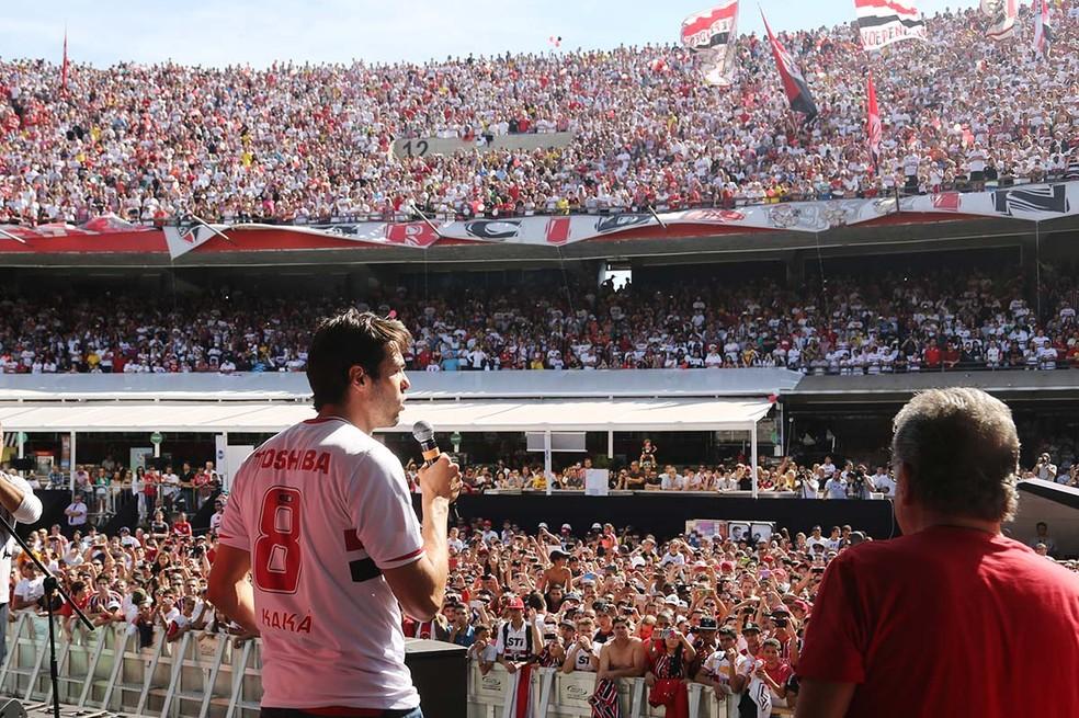 Kaká retornou ao São Paulo em 2014 (Foto: Rubens Chiri/saopaulofc.net)