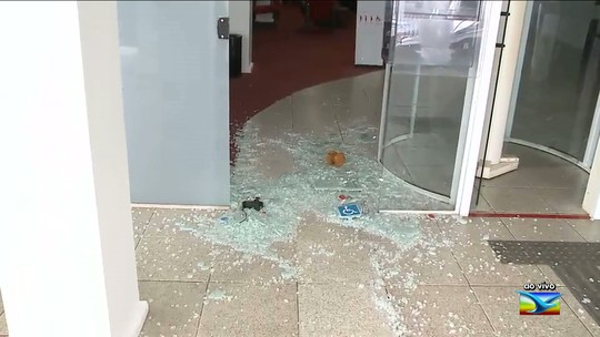 Lojas e bancos são arrombados no centro comercial de São Luís