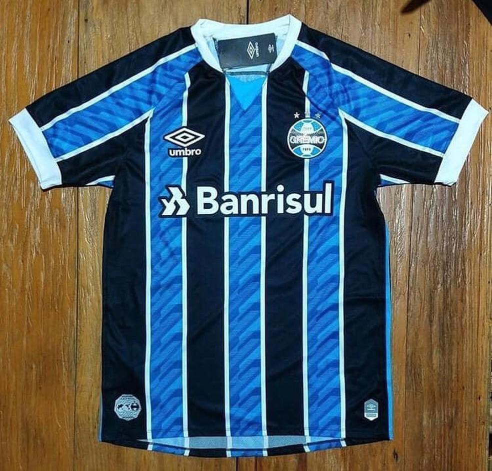 Suposta nova camisa do Grêmio para 2020 — Foto: Reprodução