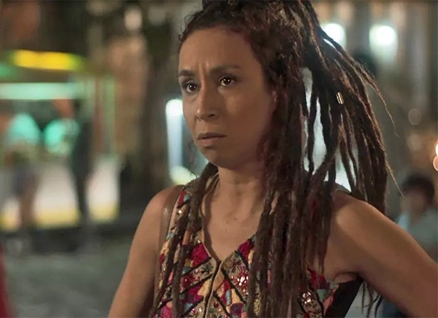 Gorete (Thalita Carauta)  se enfurece ao descobrir que Miguel é Beto Falcão (Emílio Dantas) (Foto: Reprodução/ TV Globo)