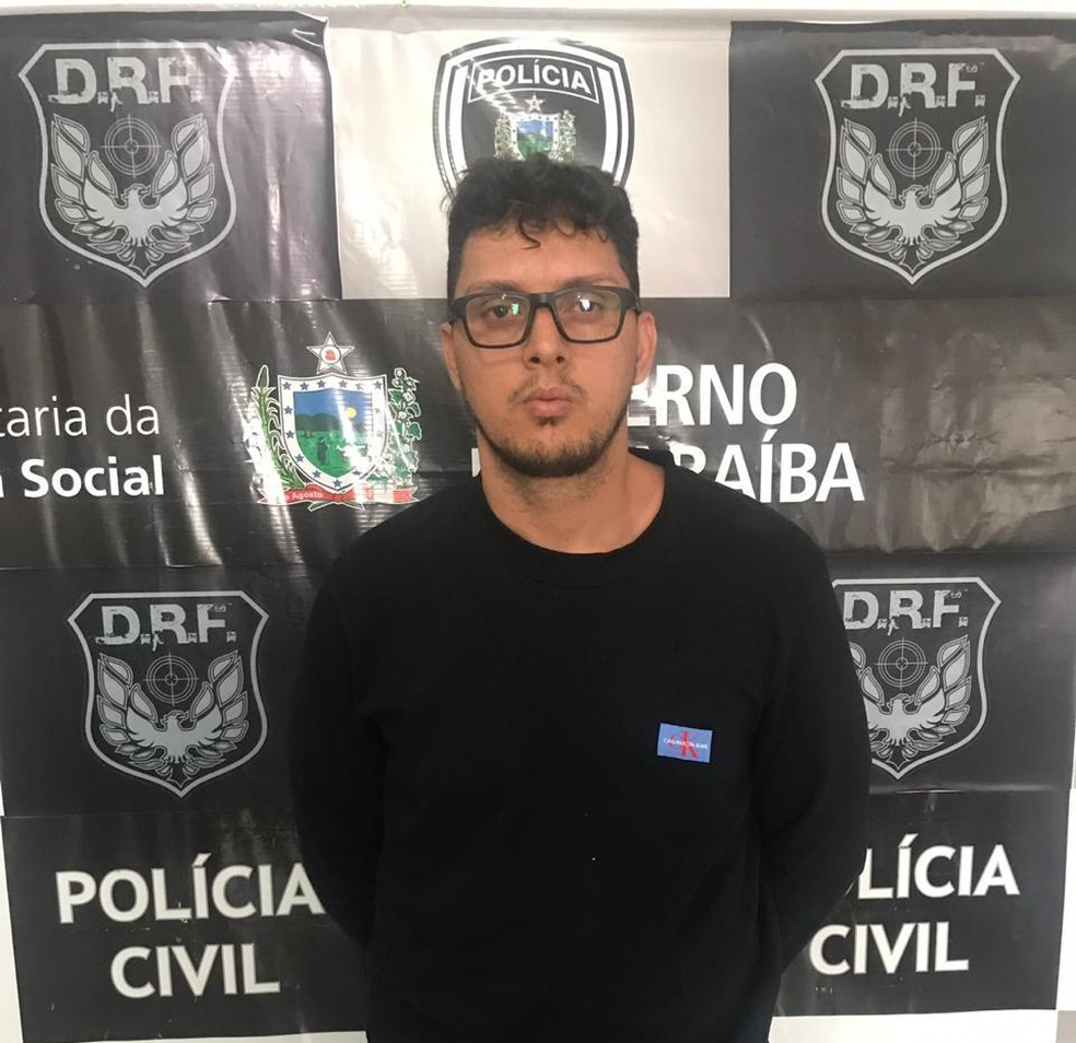 Victor Lucci da Silva estava foragido do Maranhão desde o ano passado e foi preso nesta sexta (19) em Campina Grande (PB). — Foto: Divulgação/Polícia Civil
