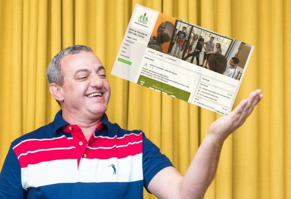 Professor Paulo César Lazzarini  ganhou prêmio com página que agrega todas as escolas da Diretoria de Ensino de São Carlos. (Foto: Secretaria Estadual de Educação/Divulgação)
