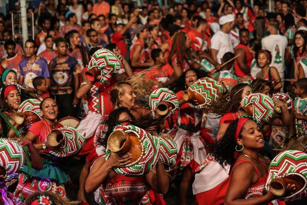 Maracatus estão na reta final dos ensaios para a abertura do carnaval do Recife (Foto: Allan Torres/Prefeitura do Recife)