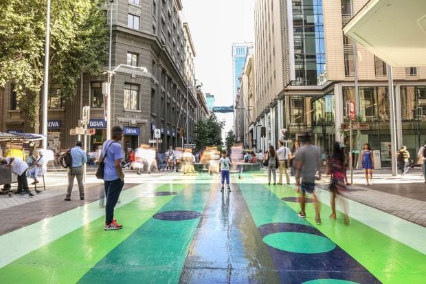 Congestionamento dá lugar a obra de arte e arquitetura em rua movimentada  (Foto: Blvckimvges e Divulgação)