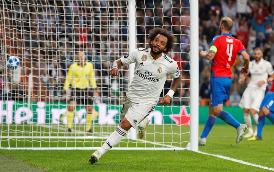 Marcelo concorre a gol mais bonito da terceira rodada da Liga dos Campeões