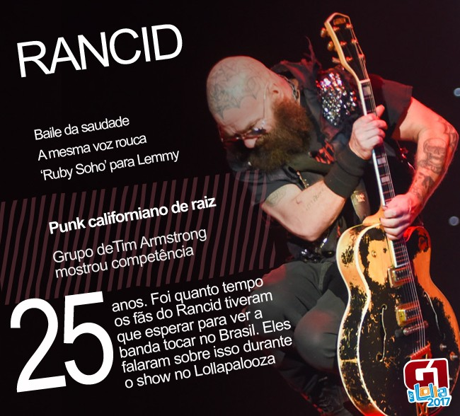 Rancid prega para convertidos do punk anos 90 em show bom e nostálgico no Lolla