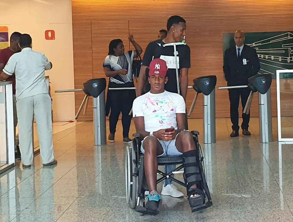 Vasco tem a intenção de vender Talles, mas lesão pode atrasar planos — Foto: Ronald Lincoln