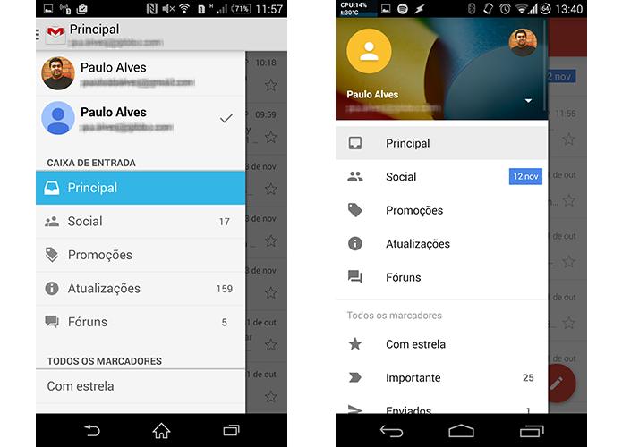 Novo design permite mostrar mais conteúdo em uma mesma tela também no menu lateral (Foto: Reprodução/Paulo Alves)