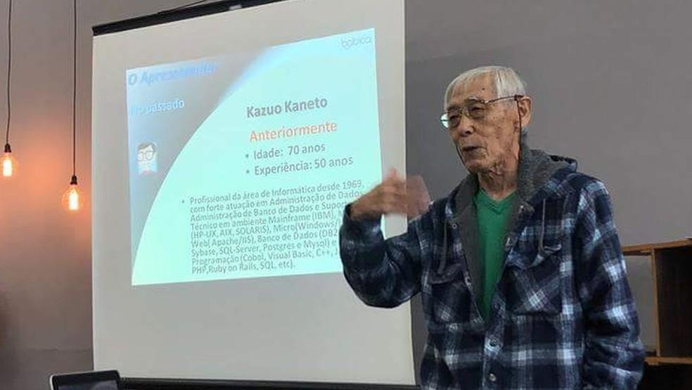 Kaneto tentou descansar, mas logo voltou a trabalhar para desenvolver uma ferramenta digital para a educação — Foto: BBC
