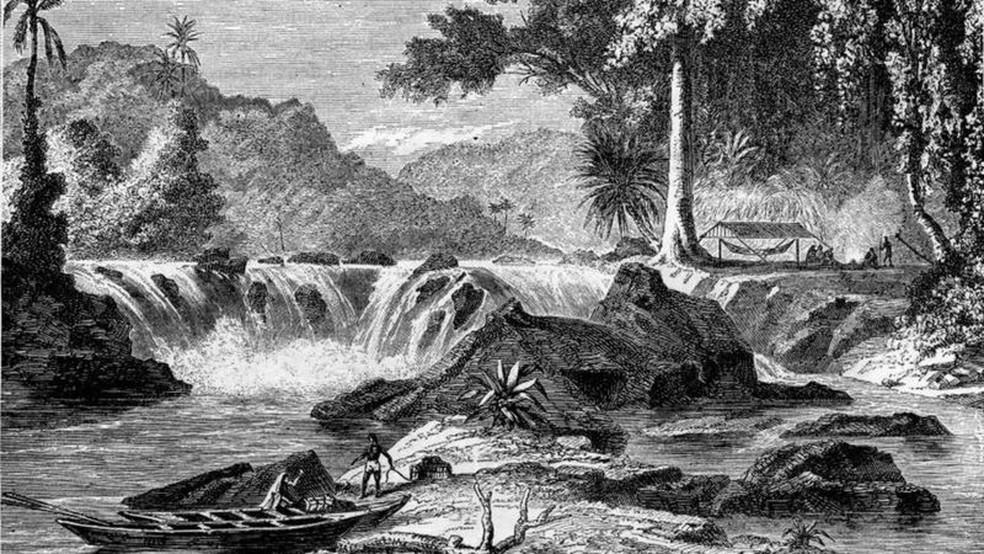 Schomburgk definiu fronteira da Guiana Inglesa a leste do rio Essequibo — Foto: Getty Images/Reprodução via BBC