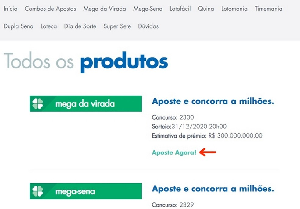 Seleção da Mega da Virada para apostar online nas Loterias da Caixa  — Foto: Reprodução/Raquel Freire