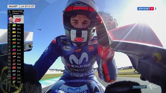 Viñales termina em primeiro no GP da Austrália de MotoGP