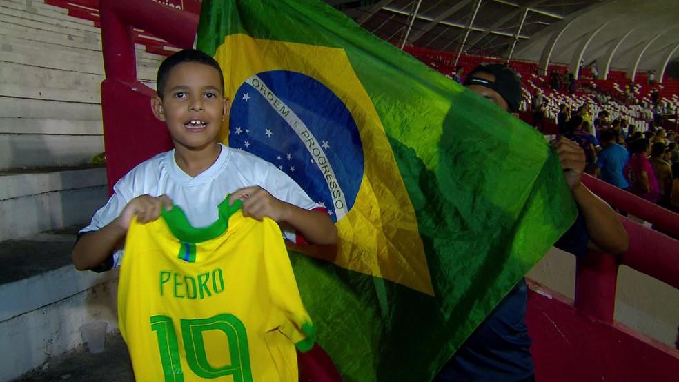 Marvim Guilherme levou camisa de Pedro — Foto: Reprodução