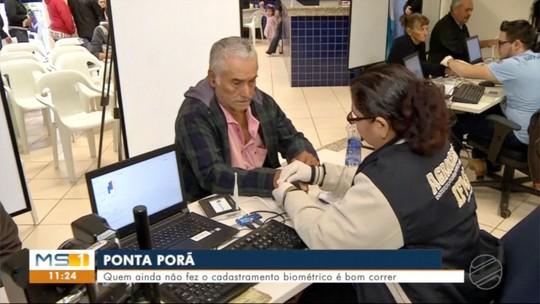 Cadastramento biométrico em Ponta Porã