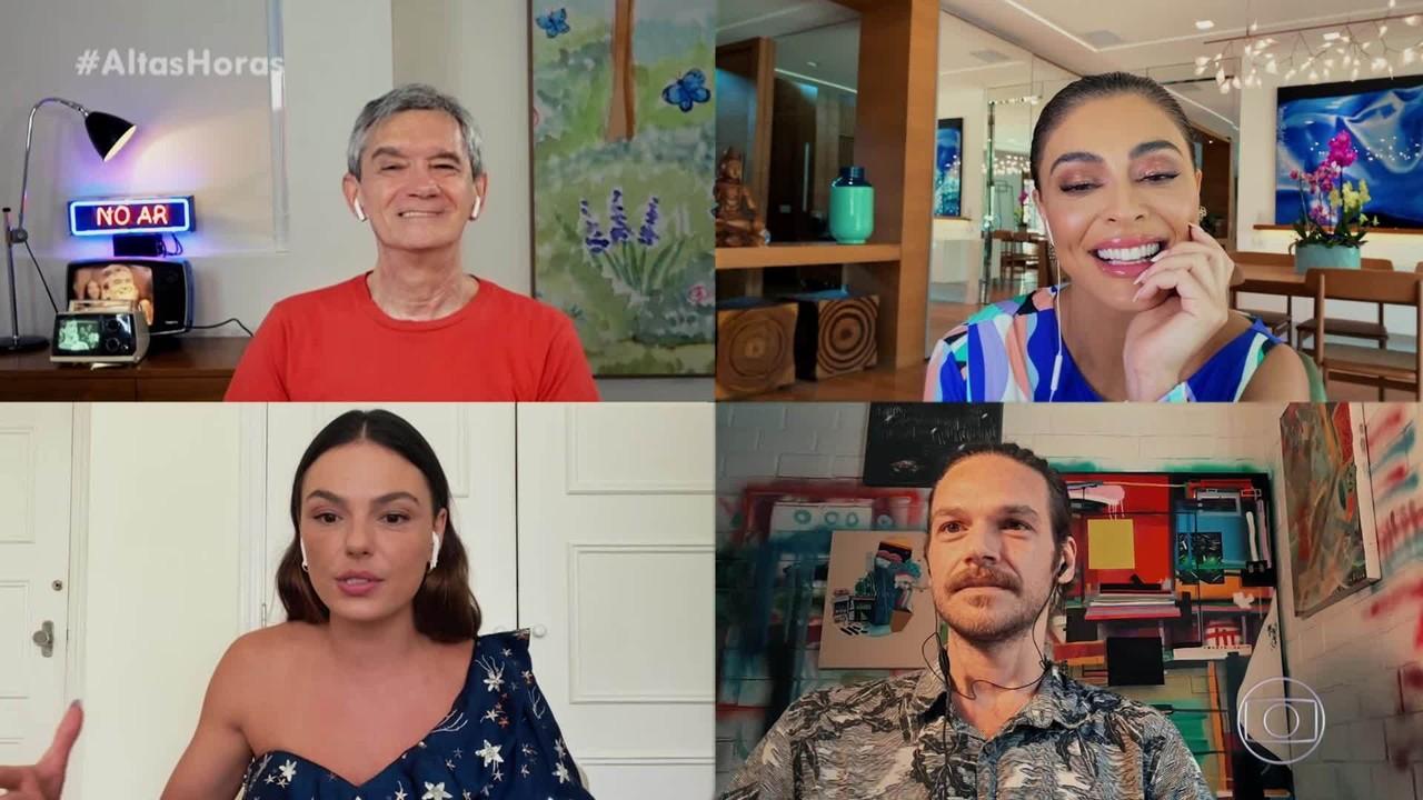 Juliana Paes, Emilio Dantas e Isis Valverde relembram as gravações de 'A Força do Querer'