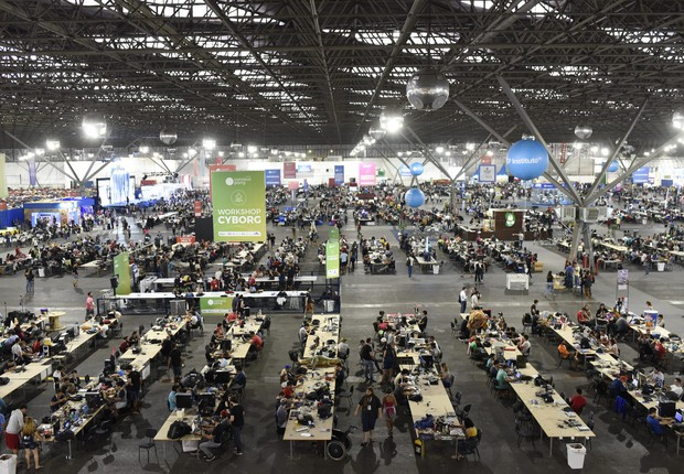 Espaço da feira Campus Party Brasil 11 (Foto: Divulgação/Campus Party Brasil)