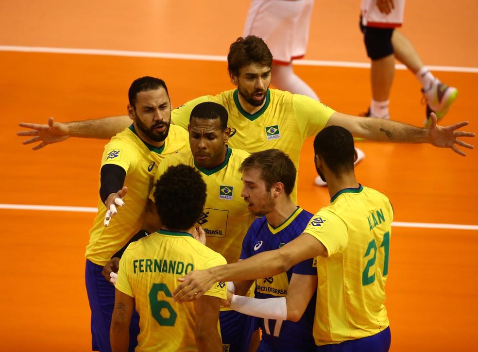 Seleção masculina de vôlei vence o Pré-Olímpico — Foto: Divulgação FIVB