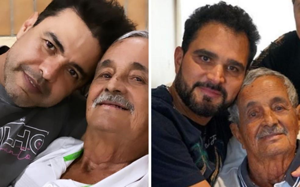 Francisco de Camargo com filhos Zezé e Luciano - publicadas nas redes sociais em 9 de agosto — Foto: Reprodução/Instagram