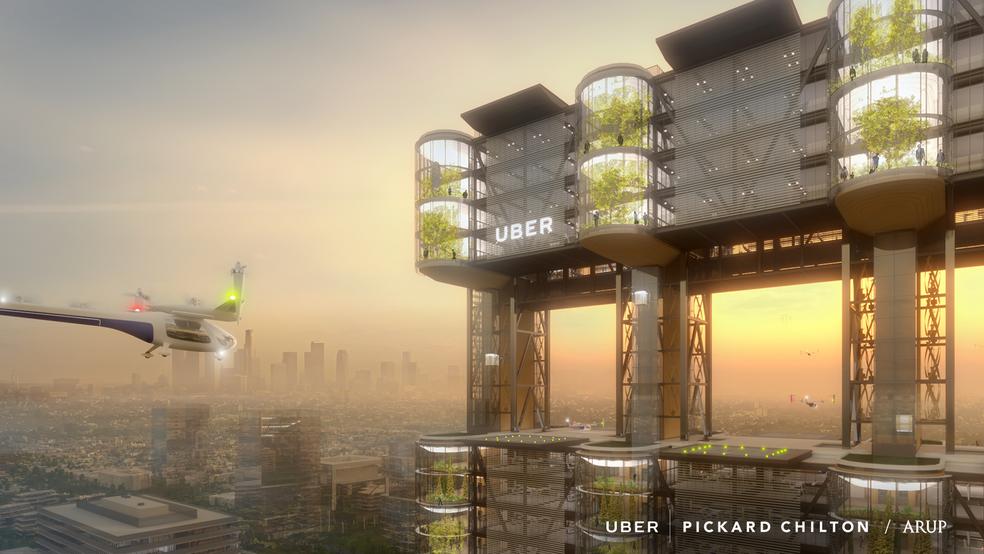 """""""Sky Tower"""" promete capacidade para até 1.800 passageiros em horários de pico (Foto: Divulgação/Uber)"""