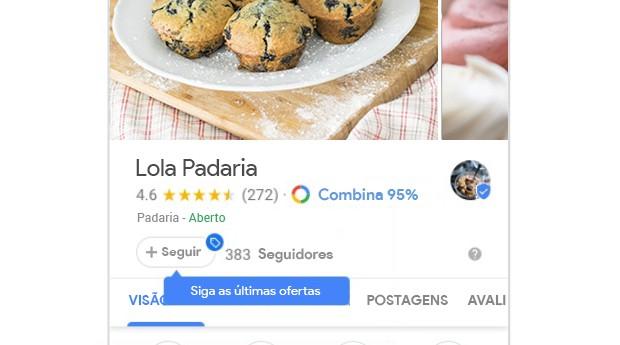 Novidades do Google Meu Negócio permitem que usuários sigam seus locais preferidos (Foto: Divulgação)