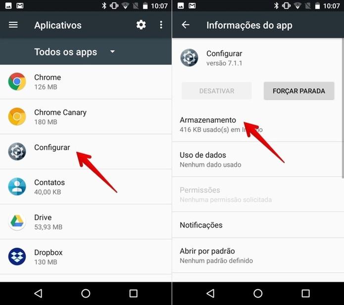 Acesse as configurações do app (Foto: Reprodução/Helito Bijora)