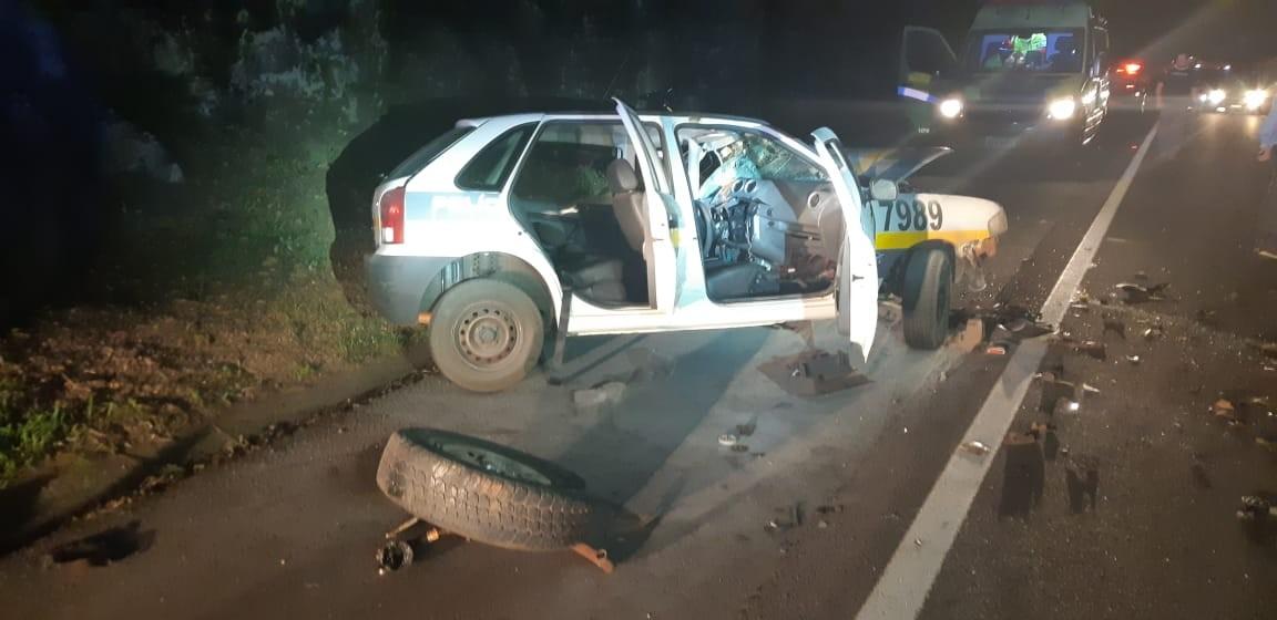 Policial militar fica ferida após acidente na BR-277, em Guaraniaçu - Notícias - Plantão Diário