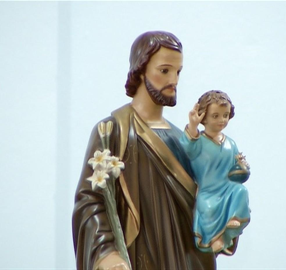 São José é o santo padroeiro de Palmas — Foto: Reprodução/TV Anhanguera