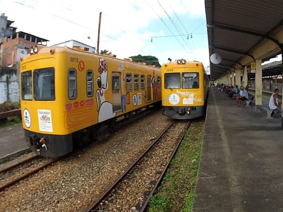 Trens do subúrbio de Salvador — Foto: Arquivo Pessoal
