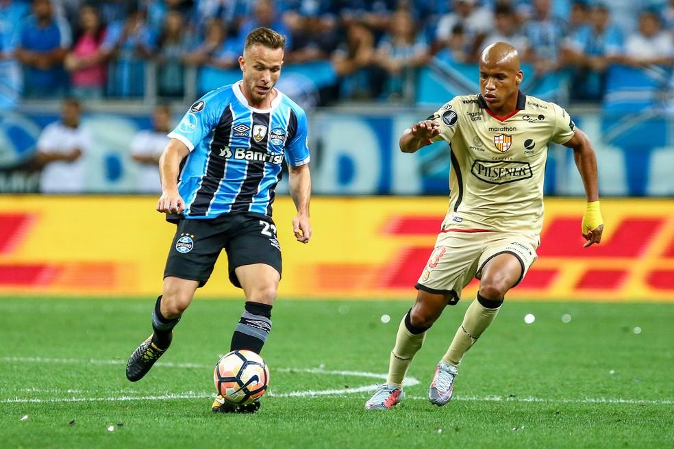 Arthur foi uma das novidades do Grêmio na Libertadores (Foto: Lucas Uebel/Divulgação Grêmio)