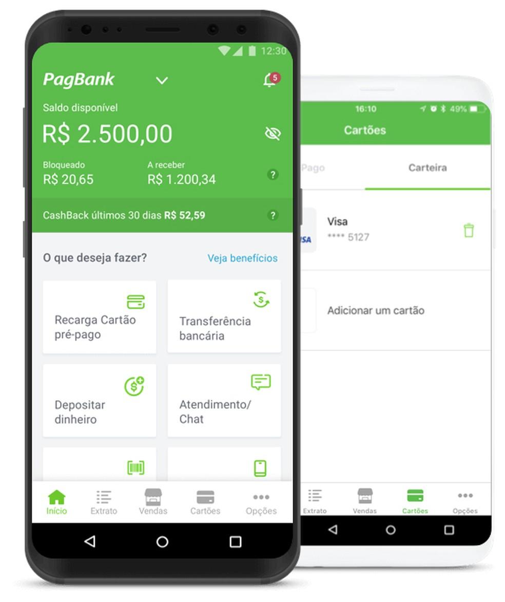 Cartões da conta digital PagBank são livres de taxas e anuidades — Foto: Divulgação/PagBank