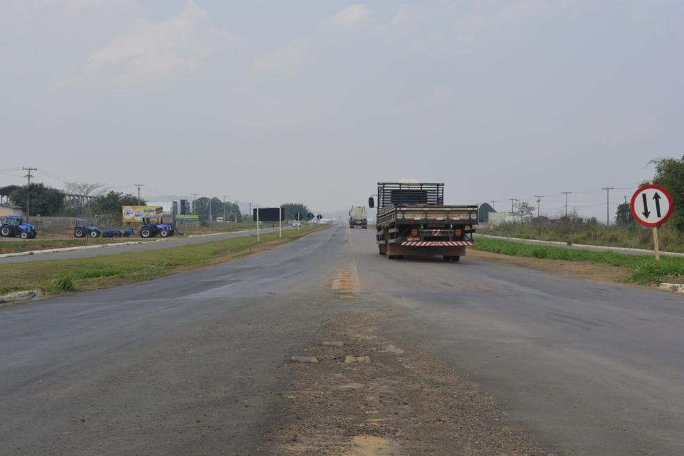 Rodovia entre Ariquemes e Porto Velho (Foto: Jefers Carlos/G1)