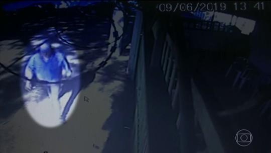 Câmeras registraram a fuga do assassino do ator Rafael Miguel