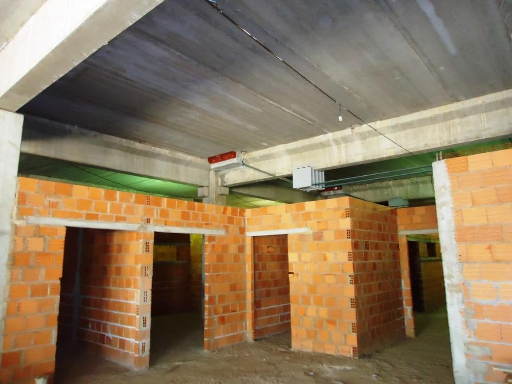 Prédio tem 40% da construção concluída em Uberlândia  (Foto: UFU/Divulgação)