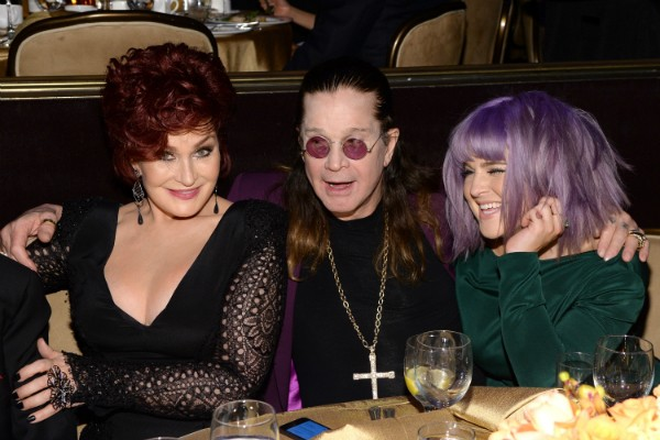 Sharon Osbourne, Ozzy Osbourne e Kelly Osbourne (Foto: Getty Images)