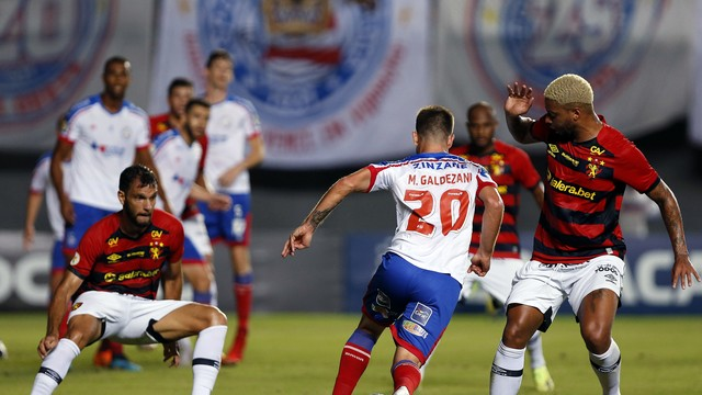 Galdezani e André em Bahia x Sport