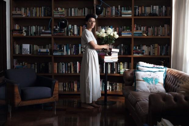 A sala é, para Dedé Bevilaqua, um lugar de relaxamento (Foto: Mayra Azzi / Editora Globo)