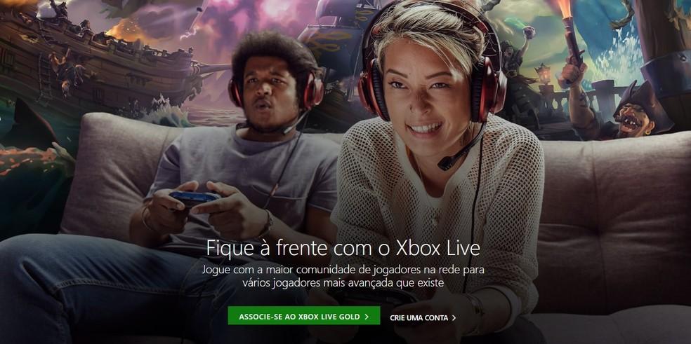 A Xbox Live é a rede virtual dos jogadores do console da Microsfot — Foto: Reprodução/Carlos Palmeira