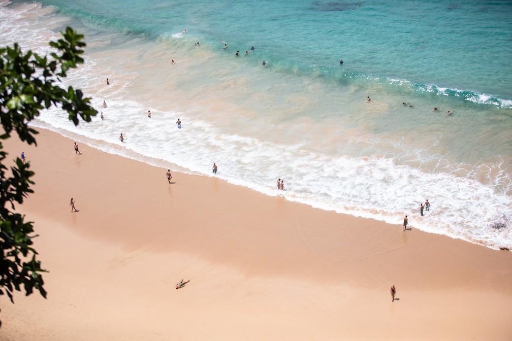 Praia do Sancho em Fernando de Noronha — Foto: Fábio Tito/G1