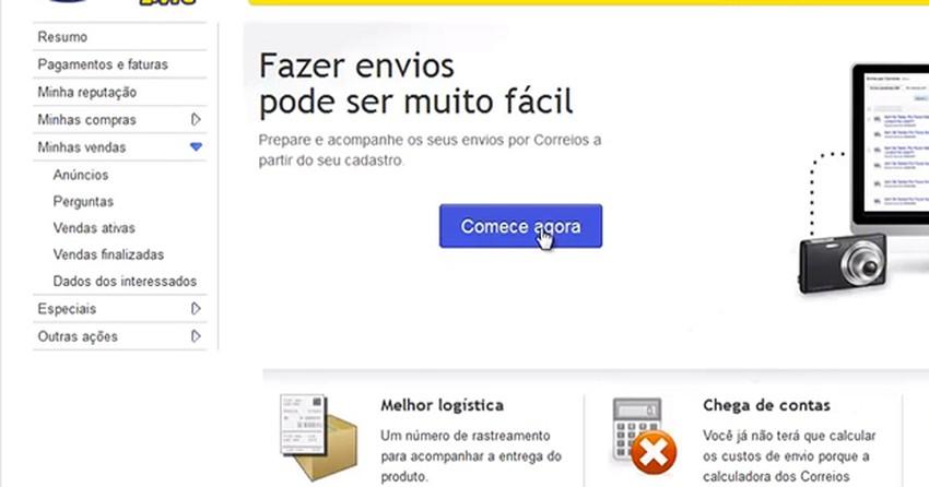 b2683de4845 Como usar Mercado Livre Envios e economizar nas tarifas dos Correios ...