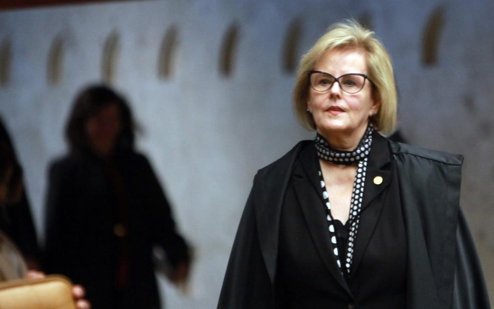 A nova ministra do TSE Rosa Weber durante julgamento no STF (Foto: Antônio Araújo/Trilux/Estadão Conteúdo)