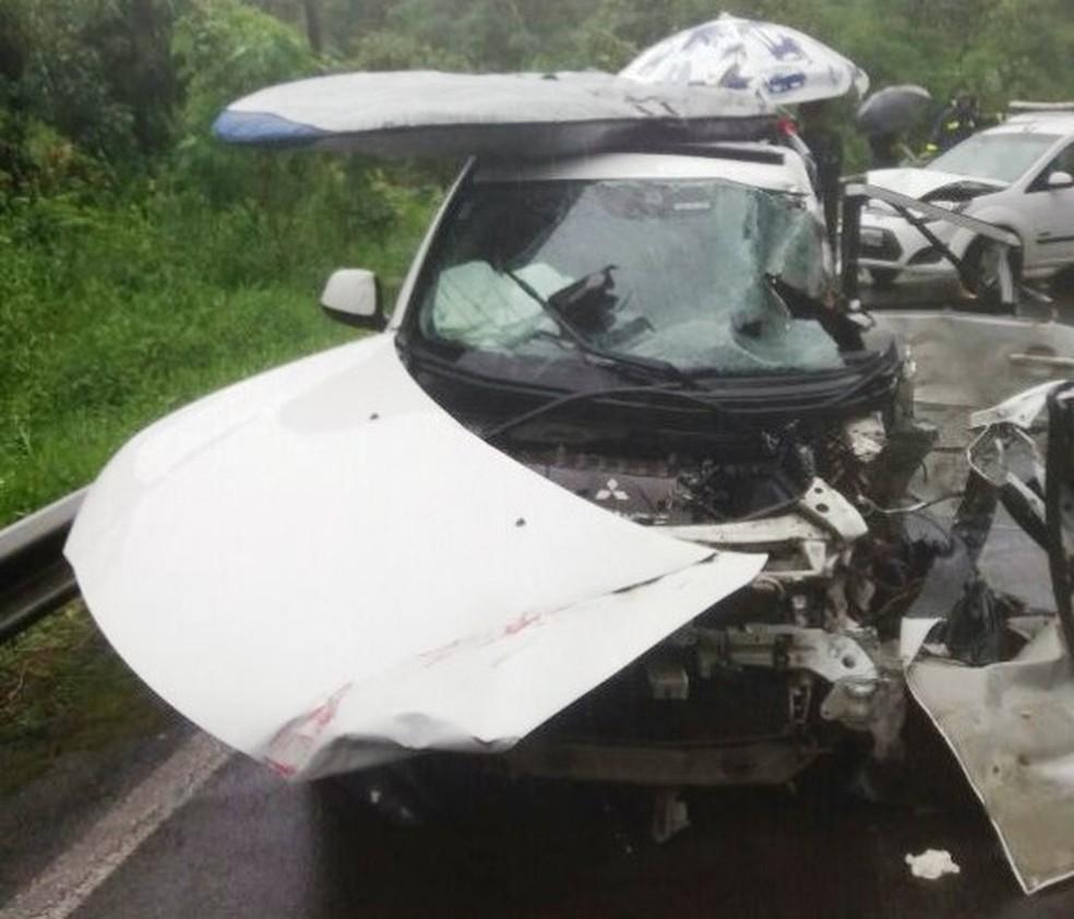 Homem morreu após acidente na BR-280 no Norte de SC  (Foto: PRF/Divulgação)