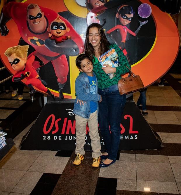 Fabiana Herreiro e o filho, Diego, 6 (Foto: Daniel das Neves)