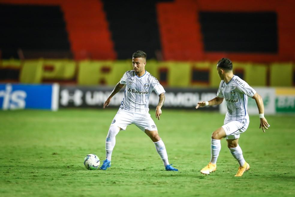 Matheus Henrique no empate em 1 a 1 contra o Sport — Foto: Lucas Uebel/Grêmio