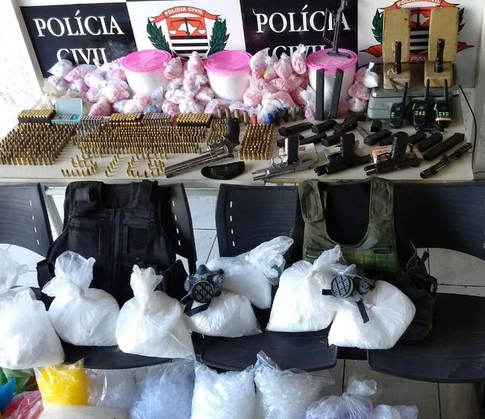 Material do crime organizado foi localizado e apreendido pela polícia (Foto: Divulgação/Polícia Civil)
