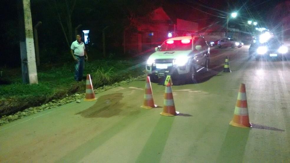Acidente ocorreu na Avenida Universitária, em Pontal do Araguaia (Foto: Polícia Militar de Pontal do Araguaia-MT/ Divulgação)